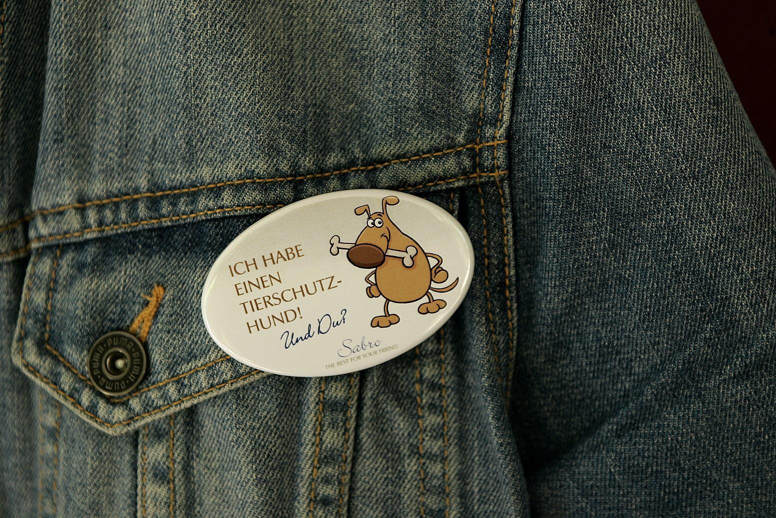 SABRO Tierschutz-Button